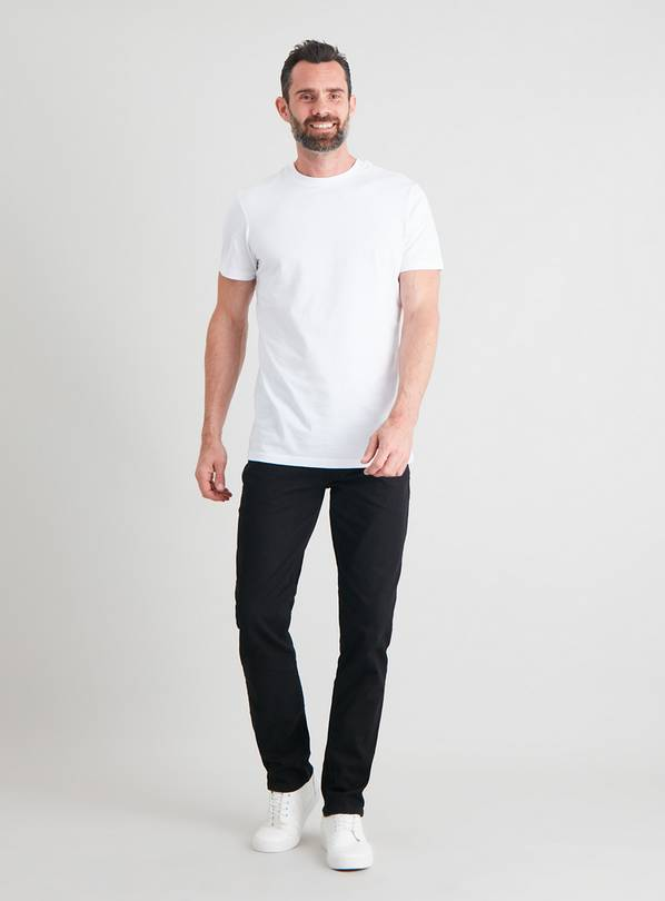 Revival Black Denim Slim Fit Jeans With Stretch - W34 L32