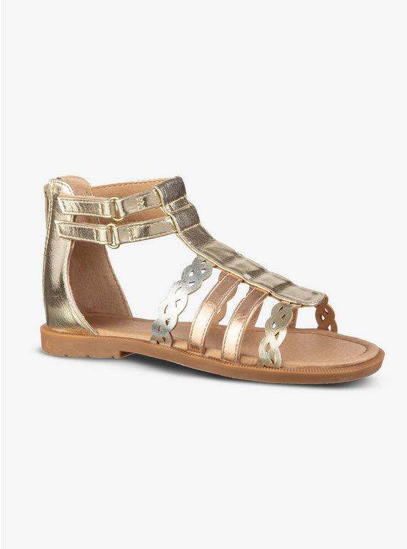 437d307e314 Buy Gold   Mixed Metallic Gladiator Sandals - 10 Infant