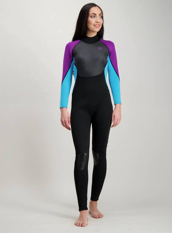 BANANA BITE Black & Purple Long Leg Wetsuit - 18