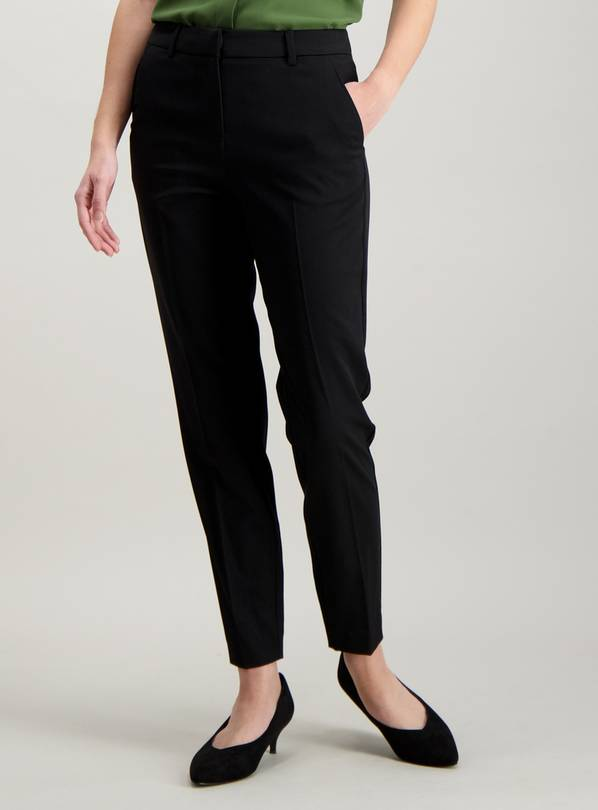 Black Tapered Leg Trousers - 8XS