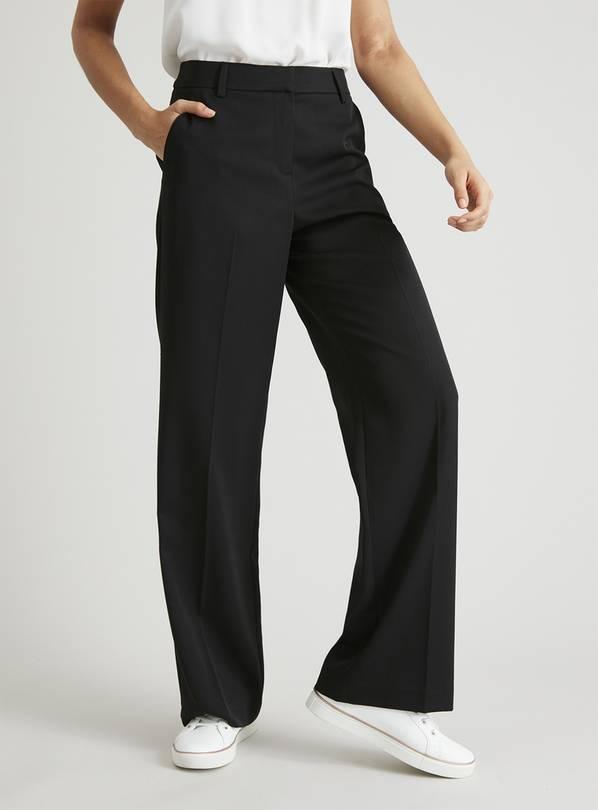 Black Wide Leg Trousers - 8