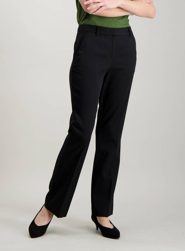 Black Bootcut Trousers - 12R