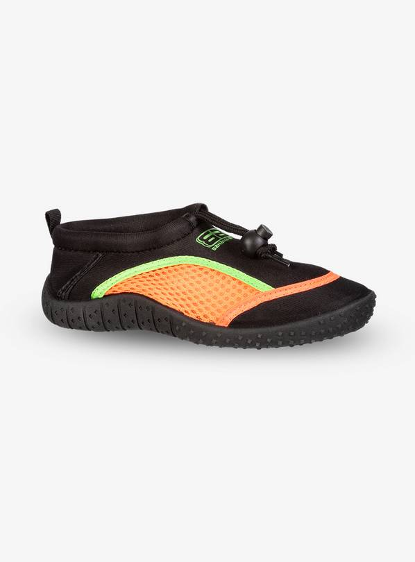 BANANA BITE Black & Neon Orange Wetshoes - 34 (UK 2)