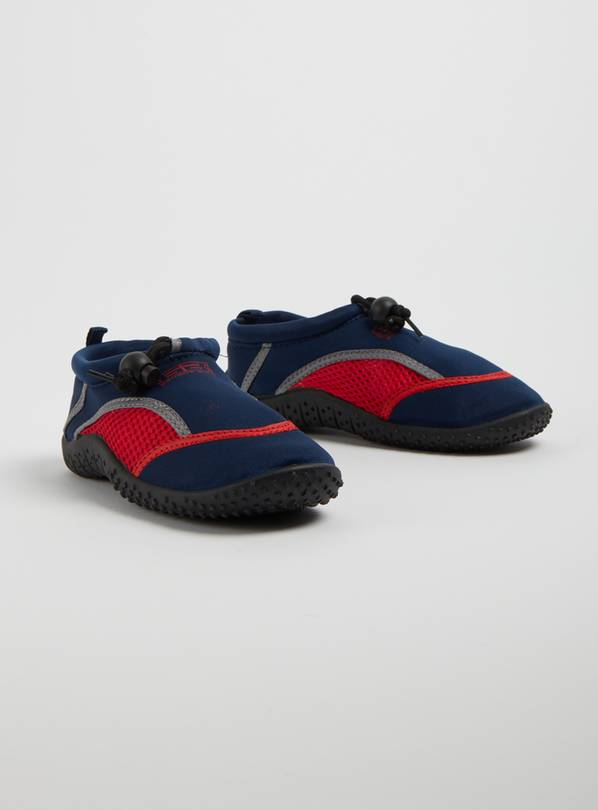BANANA BITE Navy & Red Wetshoes - 29 (UK 11 Infant)