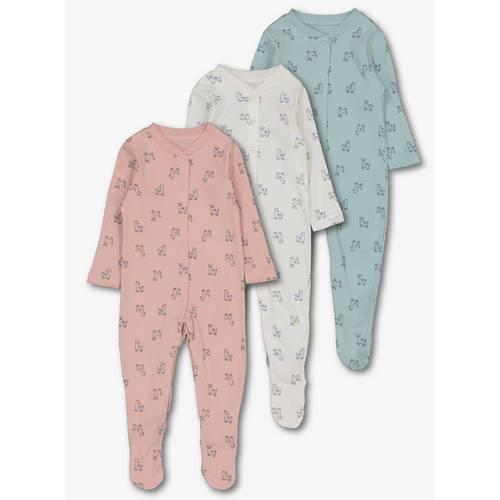 68d835c23248 Buy Multicoloured Llama Print Sleepsuits 3 Pack - 9-12 months ...