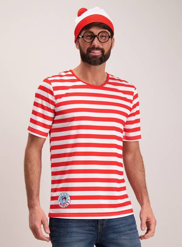 Where's Wally Red & White Costume Set - L/XL