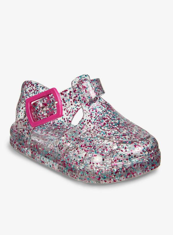 f467ad5fcc60 Buy Multicoloured Glitter Baby Jelly Shoes - 3 Infant | Shoes | Argos