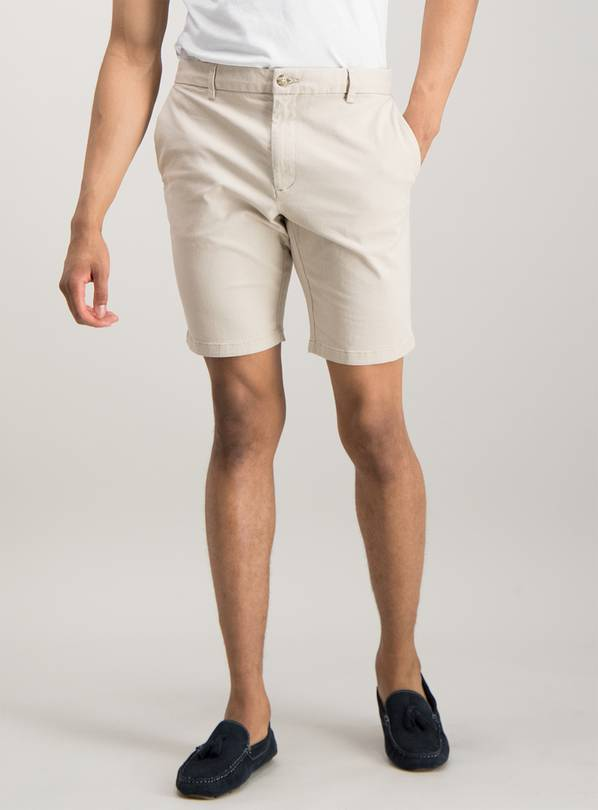 Online Exclusive Stone Chino Slim Fit Shorts With Stretch -