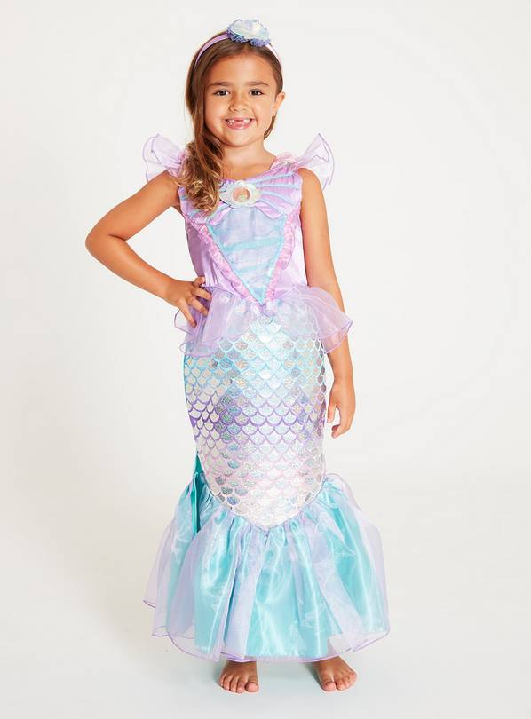Disney Princess Ariel Lilac & Green Mermaid Costume Set - 3-
