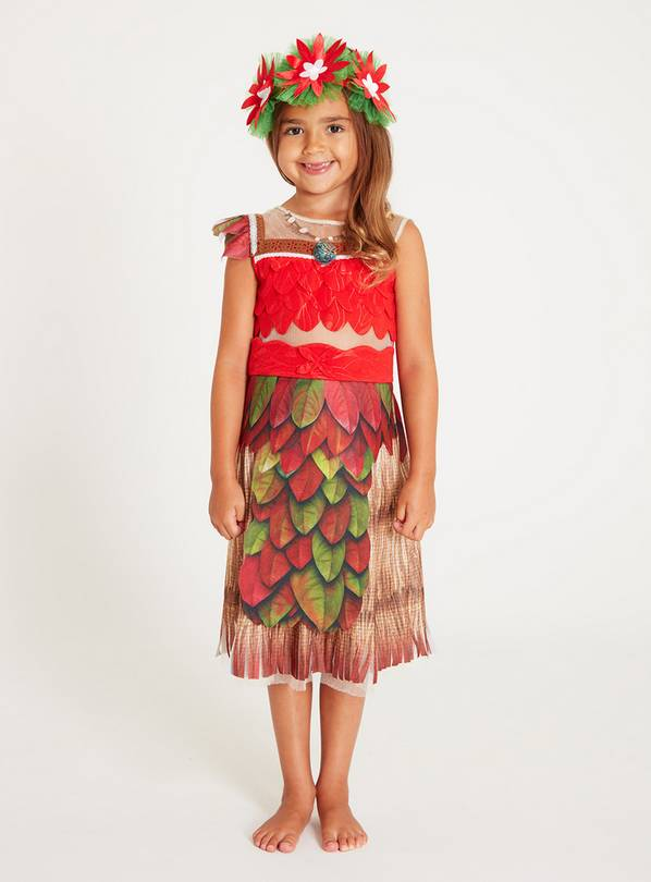 Disney Moana Red Coronation Dress Set - 5-6 years