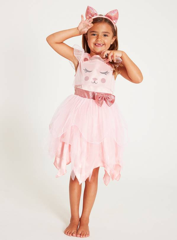 Pink Cat Fairy Costume Set - 3-4 Years
