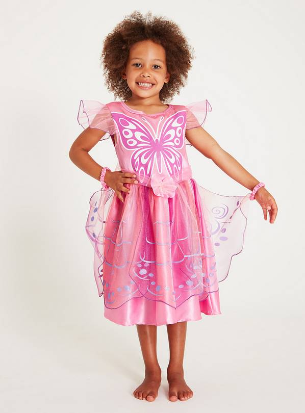 Online Exclusive Pink Butterfly Fairy Costume - 5-6 years