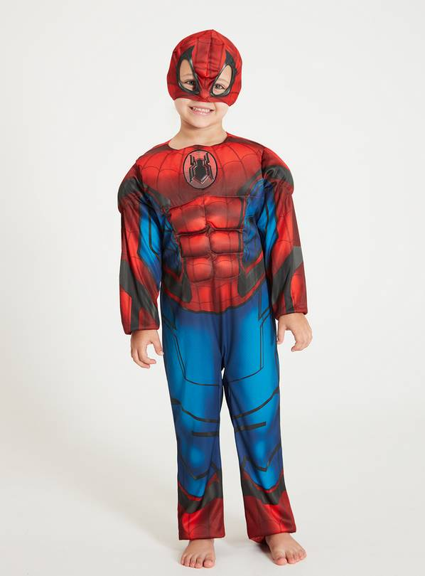 Marvel Spider-Man Far From Home Red & Blue Costume - 7-8 yea
