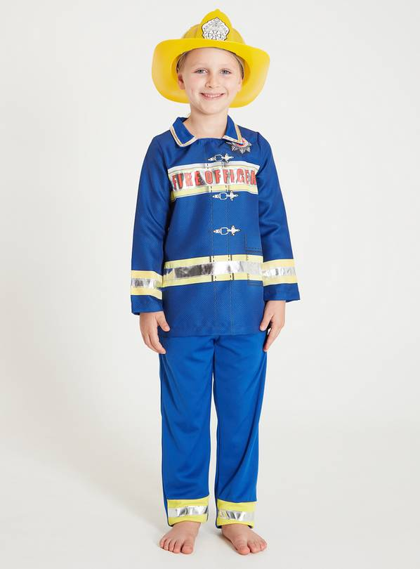 Blue Fire Officer Costume Set - 9-10 years