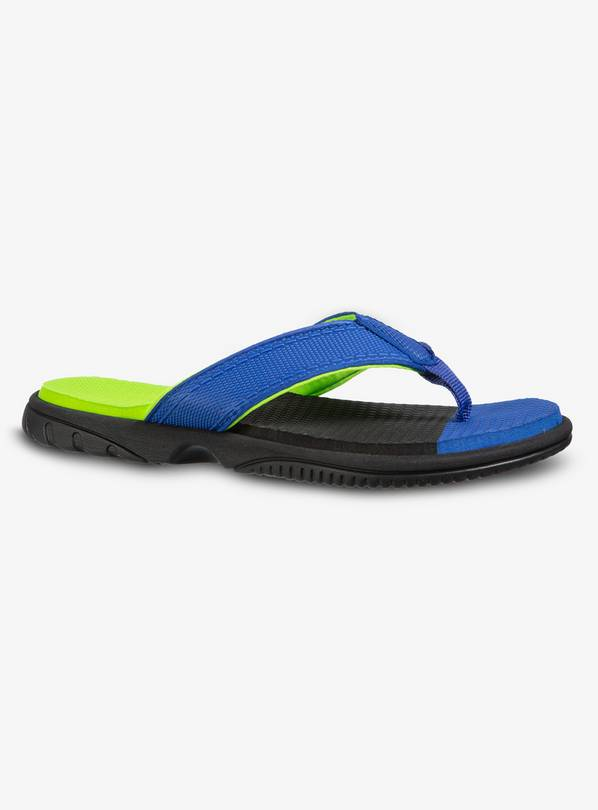 Buy Blue Cushioned Flip Flops 10 11 Infant Shoes And Boots Argos