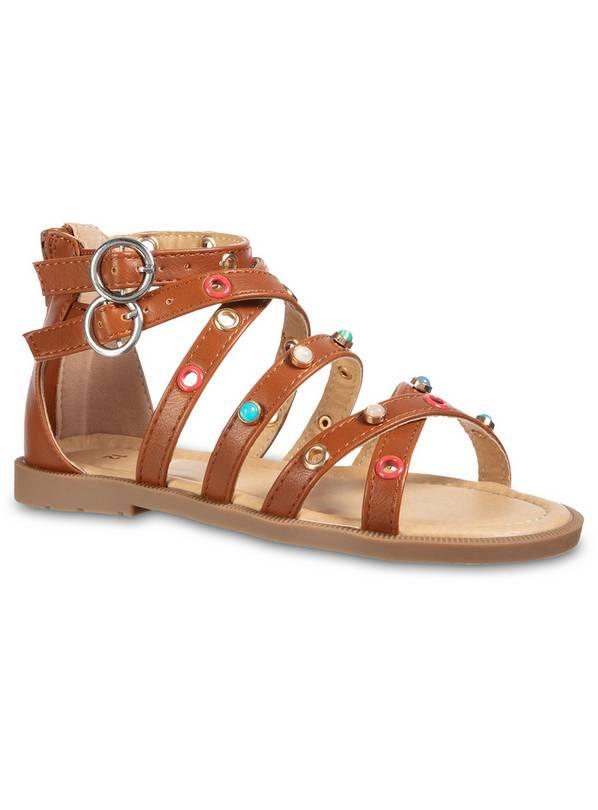 0f0ec9e5748 Buy Brown Gladiator Sandals - 10 Infant
