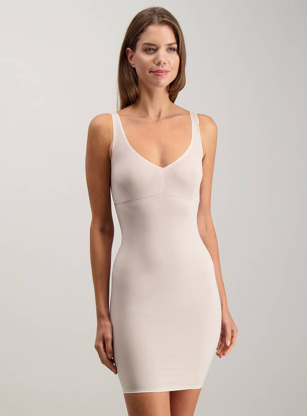 Secret Shaping Latte Nude V-Neck Light Control Slip Dress -