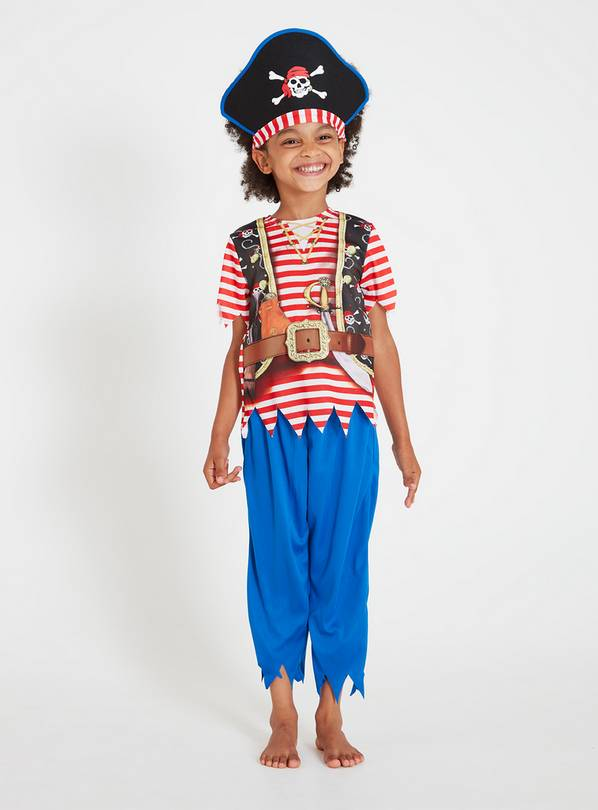 Stripy Pirate Costume - 1-2 years