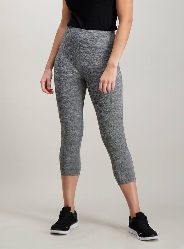 Active Grey Space Dye Cropped Leggings - 14