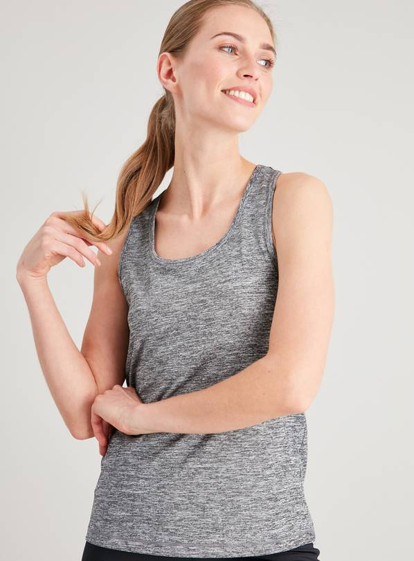 Active Grey Space Dye Vest Top - 16