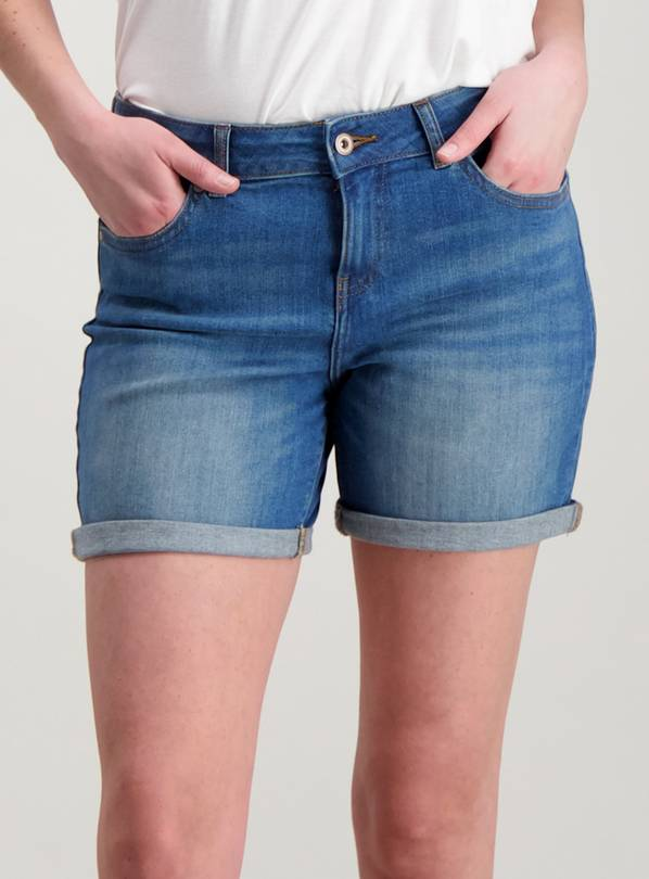 Denim Boyfriend Shorts - 16