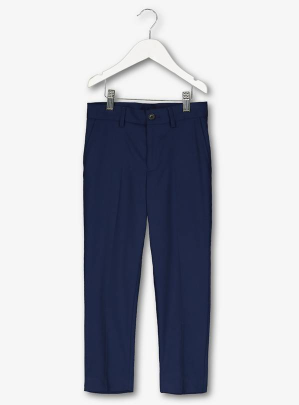 Mini Me Navy Formal Suit Trousers - 8 years