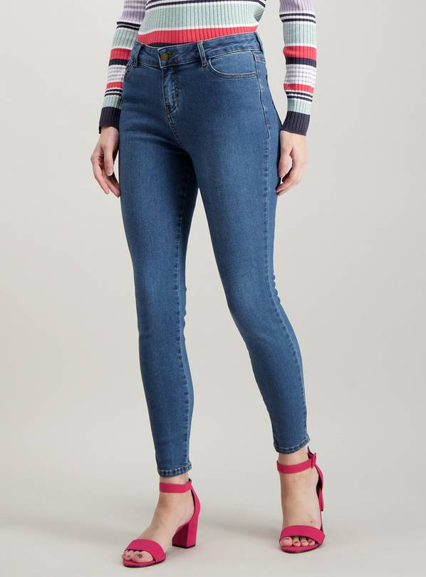 Blue Mid Denim Skinny Jeans - 8S