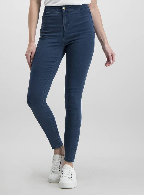 Dark Denim High Waisted Skinny Jeans - 8S