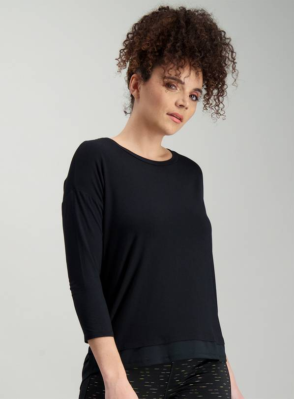 Online Exclusive Active Black Layering Top - 14