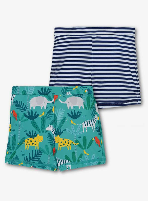 Online Exclusive Navy Safari Swim Shorts 2 Pack - 2-3 years