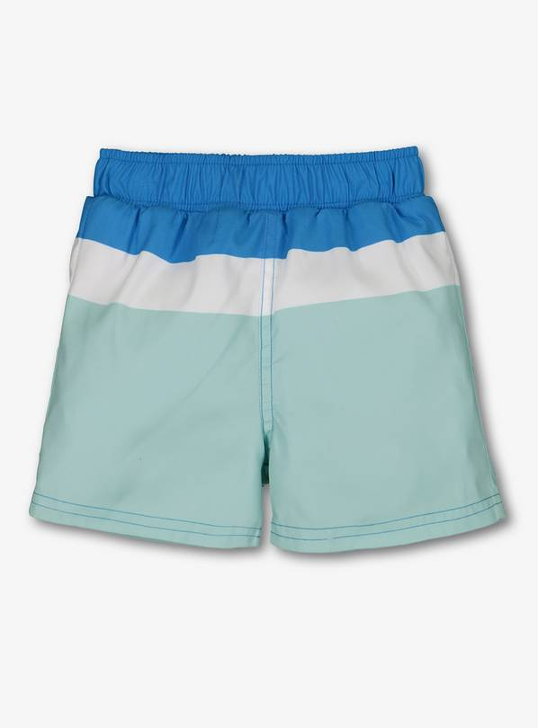 Online Exclusive Blue Block Stripe Swim Short - 12-18 months