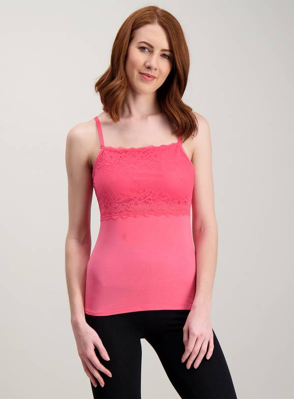 2a38cd146a8d1 Buy Hot Pink Lace Top Secret Support Camisole - 8 | Tops and tunics ...