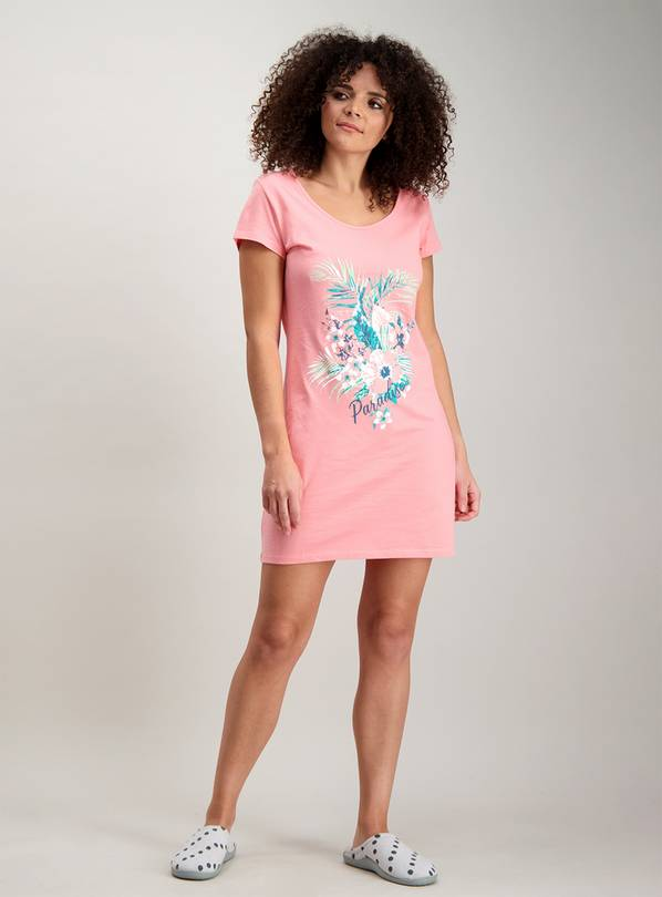 Multicoloured Palm Print Nightdress 2 Pack - 14-16