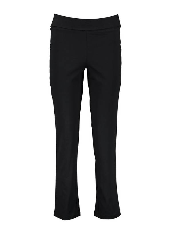 PETITE Black Roll Top Joggers - 20