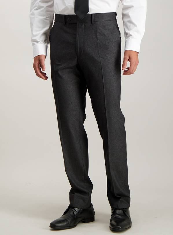 Black & Grey Houndstooth Check Tailored Fit Trouser With Str
