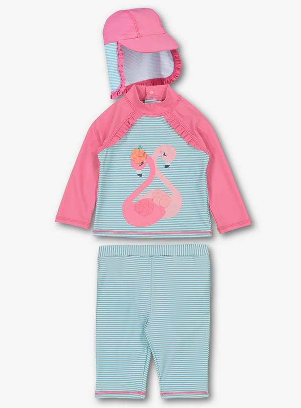 Online Exclusive Pink Flamingo Sunsuit Set - 12-18 months