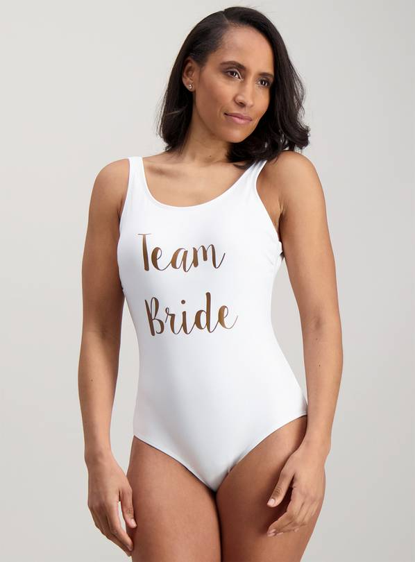 Team Bride White Swimsuit - 22