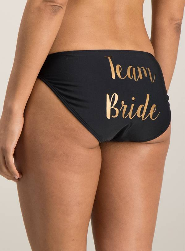 Black Team Bride Bikini Briefs - 16