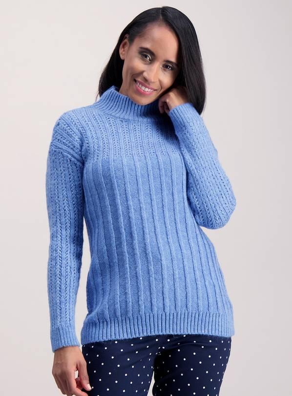 1aa0718c3cd9e7 Buy Blue Ripple & Star Knit Jumper - 10 | Jumpers | Argos