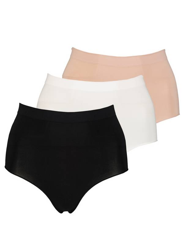 Multicoloured Seam Free Full Knickers 3 Pack - L
