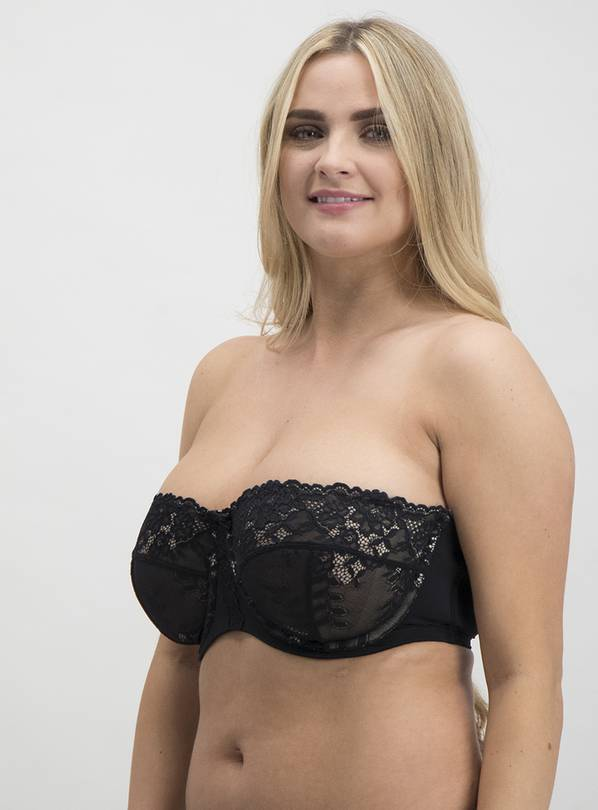 Online Exclusive DD+ Black Non-Padded Multiway Bra - 36E