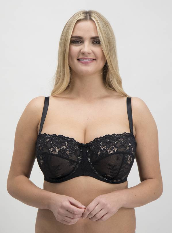Online Exclusive DD+ Black Non-Padded Multiway Bra - 36GG