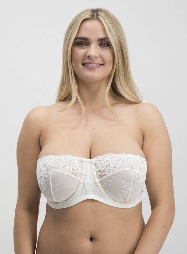 Online Exclusive DD+ Ivory Non-Padded Multiway Bra - 36F