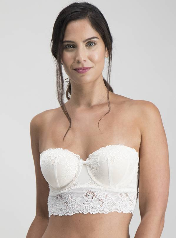 Online Exclusive Ivory Lace Longline Multiway Bra - 34B