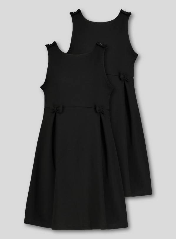 Black Jersey Pinafore 2 Pack - 12 years