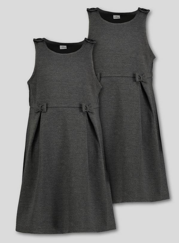 Grey Jersey Pinafore 2 Pack - 12 years
