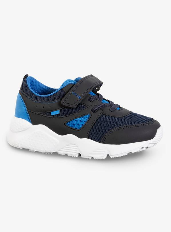 Black & Blue Back To School Trainers - 12 Infant