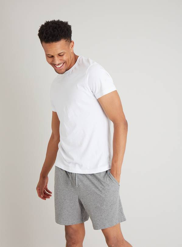 Navy & Grey Marl Short Pyjama Bottoms 2 Pack - XS