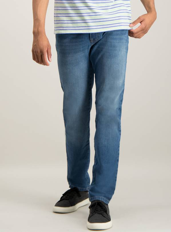 Blue Slim Fit 4 Way Stretch Denim Jeans - W36 L32