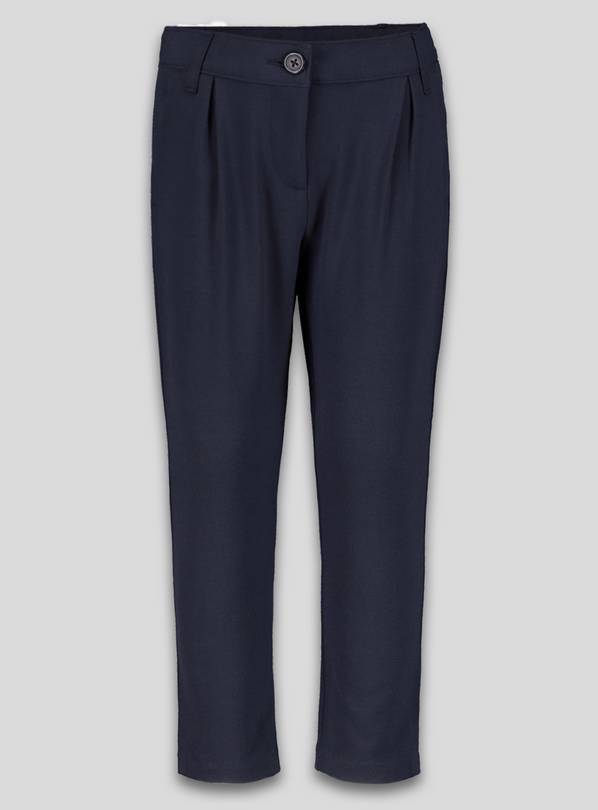 Navy Stretch School Trousers - 14 years